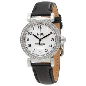 Coach Women's WatchBlack Leather MADISON